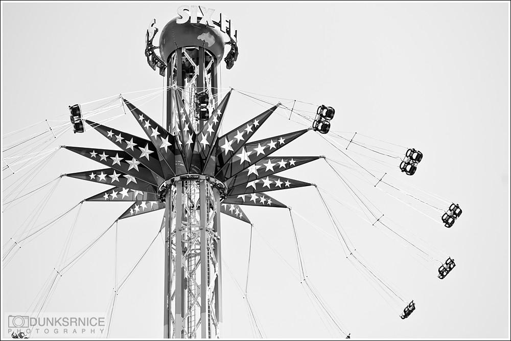 Six Flags Discovery Kingdom B&W.