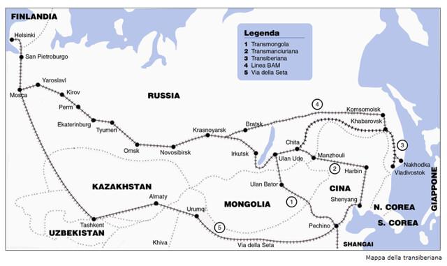 mapa transiberiana