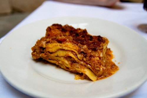 Lasagna at Ristorante Vitto in Siena
