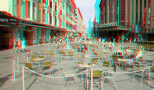 Helsinki in stereo anaglyph
