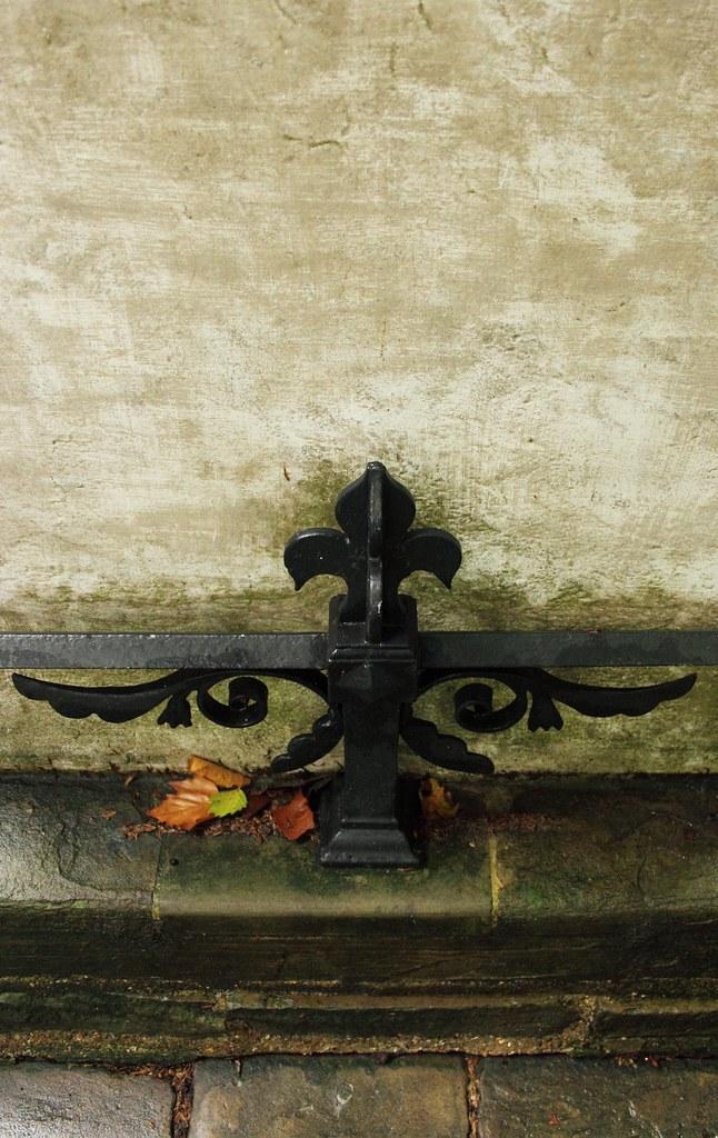 cast iron at gravestone