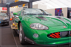 Empire BIG SCREEN : Bond in Motion the cars of James Bond Exhibition - Zao (Rick Yune) Jaguar XKR Convertible Door Mounted Missiles, Rockets in fascia grill from Die Another Day by Craig Grobler
