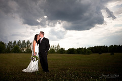 Blaire & Jeremy (Jason Idzerda) Tags: flowers wedding summer cloud ontario canada hot flower green love clouds digital canon outside couple warm pretty shoot shot angle outdoor wide tie marriage knot full professional frame pro l mk2 5d orangeville usm ultrawide ultra ef 1740mm f4 tralee 1740 mkii 5dmkii 5dmk2