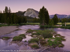 Sunset, Tuolumne Meadows and Lembert Dome (Robin Black Photography) Tags: longexposure sunset summer beautiful nationalpark twilight colorful glow purple dusk ngc scenic meadow meadows alpine yosemite granite verdant sierranevada iconic johnmuir tuolumne naturesbest highsierra nationalgeographic highcountry highway120 lembertdome glaciation tuolumneriver tiogaroad tuolumnemeadow rangeoflight outdoorphotographer canon5dmarkii robinblackphotography