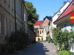 Lund, Sweden (catarina.berg) Tags: street city flowers houses summer lund town sweden cobblestones sverige