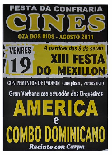Oza dos Ríos 2011 - Festa da Confraría en Cis - cartel venres