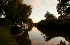 Home from home. (dahowes) Tags: trees reflection boats evening canal derbyshire narrowboat waterway shardlow trentmerseycanal d80 18135mm 18135mmf3556g dahowes
