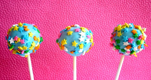 Star sprinkles cake pops
