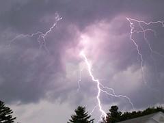 STRUCK! (KAM918) Tags: light summer storm tree clouds ma massachusetts flash ground electricity strike lightning burst thunder dracut cloudtoground