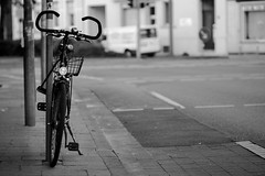 Bycicle crossing (mariusLAN) Tags: street blackandwhite white black crossing 85mm f2 bycicle