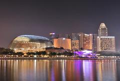 Esplanade (joshwaaaproject) Tags: streets reflection night buildings lights nikon singapore esplanade 1855mm singapura d60 longexpo