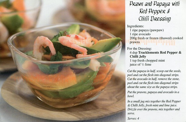 Prawn and Papaya with Red Pepper & Chilli Dressing
