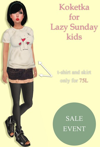 T shirt and skirt by Koketka for Lazy Sunday kids
