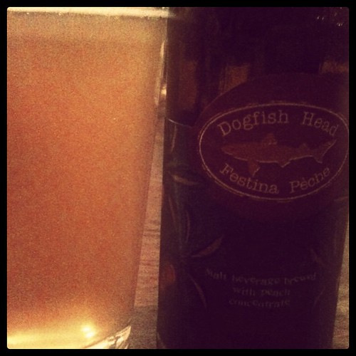 Dogfish Head Festina Peche (tasty fruit wheat beer)