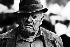 *** (Yuliya Bahr) Tags: old portrait bw man hat oldness portrt hut sw wrinkles oldmen altermann