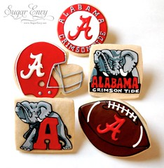 Alabama Crimson Tide Football Set (Sugar Envy) Tags: party elephant college cookies football university rolltide helmet alabama sugar envy favors crimsontide sugarenvy sugarenvynet