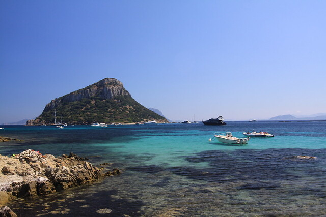Isola di Figarolo seen from the Golfo Aranci area...
