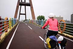 A bridge on the Shiroishi Cycling Road, Sapporo, Hokkaido, Japan
