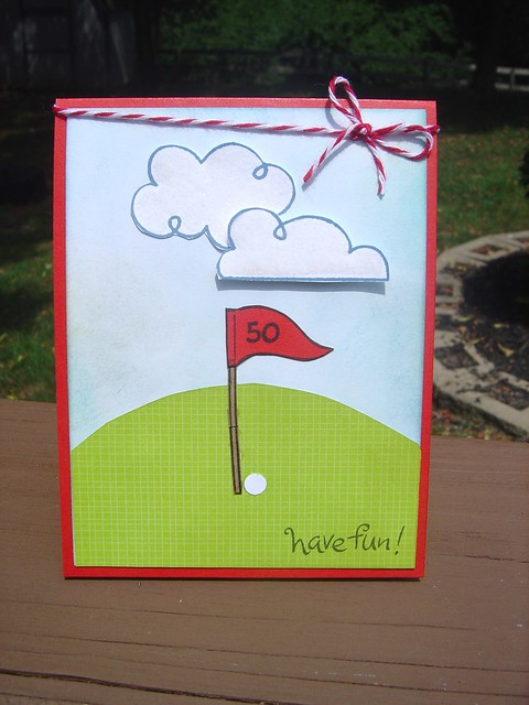 Golf b-day card
