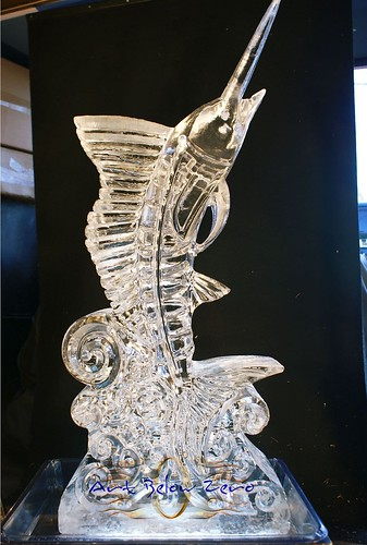 Swordfish 3D ice sculpture