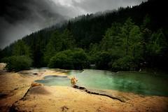 puddles (Ludo B.) Tags: china nature water eau lac tibet unesco beaut sichuan puddles parc huanglong chine beautifull tourisme flaque