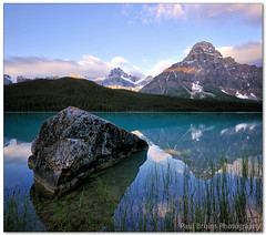 Waterfowl Wedges (Panorama Paul) Tags: mountain canada rock sunrise alberta banffnationalpark waterfowllake nohdr sigmalenses nikfilters vertorama nikond300 wwwpaulbruinscoza paulbruinsphotography