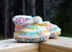 Natural Beauty - NEWBORN - Mary Jane Booties [Template]