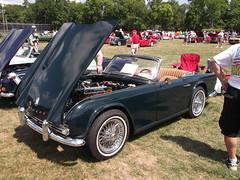 1963 Triumph TR4 (cjp02) Tags: show classic car vintage indiana days british motor zionsville fujipix av200 cjp02 1963triumphtr4indy