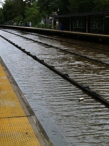 Tuckahoe Station tracks underwater