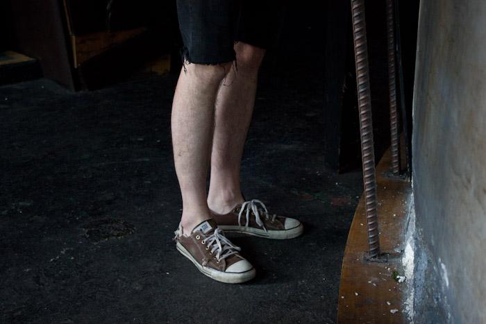 Andrew's feet.