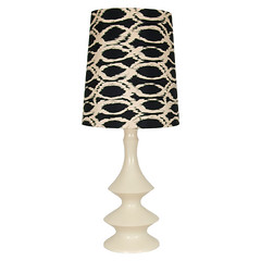 tatum-lamp (Mod Pieces) Tags: lighting black lamp vintage circle ceramic painted cream fabric round makeover ikat recovered refinished redo upcycled restyled