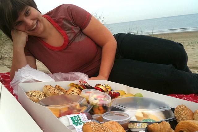 Ontbijt op het Middelkerks strand