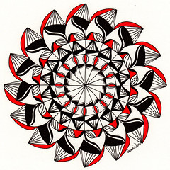 mandala016 (Amaryllis Creations) Tags: mandala penink zentangle zendala