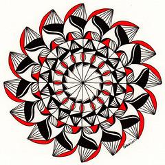 mandala016 (Amaryllis Creations) Tags: mandala penink zentangle zendala