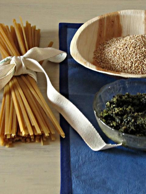 Linguine Integrali con Pesto di Sesamo e Alga Nori al The Matcha (2)