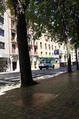 Placa de San Ignacio de Loyola en la Avenida San Ignacio