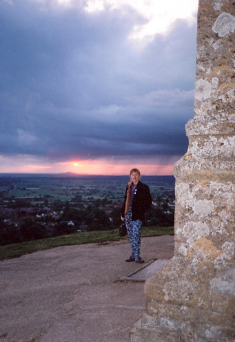 Sunset on the Tor, July 1993