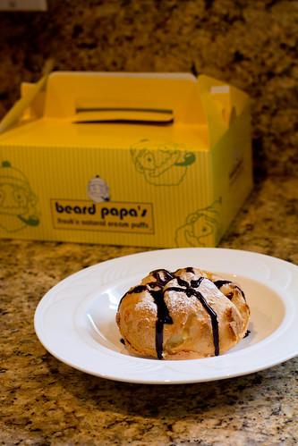 Beard Papa's vanilla custard cream puff