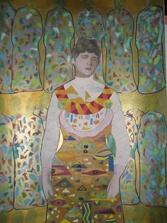 interpretazione della scultura della benefattrice Rosa Susani Carpi