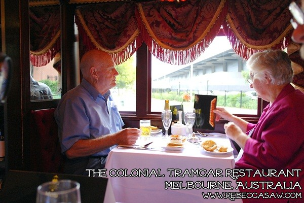 the colonial tramcar restaurant Melbourne-13