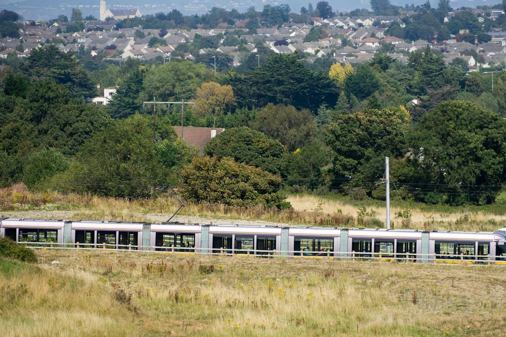The Luas Tram As Seen From Lehaunstown Road