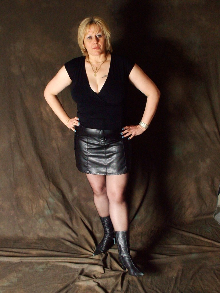 Here against mature dominatrix leather boots consider