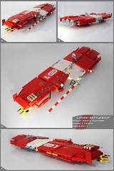 Sobani Battleship (Pierre E Fieschi) Tags: lego pierre micro missile spaceship fi battleship homeworld cruiser sci spacecraft microspace fieschi microscale microspacetopia sobani