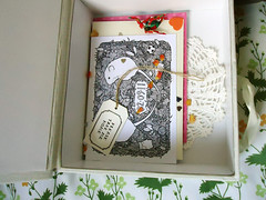 wedding memory box (this chicken) Tags: wedding illustration savethedatecard memorybox keepsakebox rebeccahorwood weddingkeepsakebox