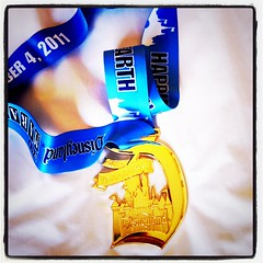 My medal! Finished the Disneyland half slow but consistent & I HATE TO RUN!