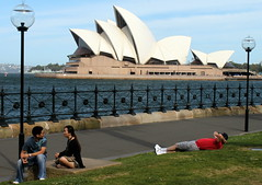 Relaxing On Sydney Harbour (Alan1954) Tags: holiday sydney australia newsouthwales operahouse 2010