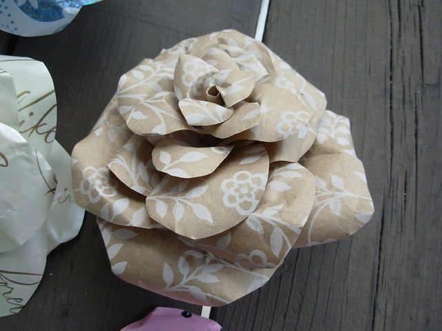 Brown Floral Rose