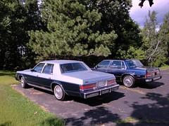 80 Dodge St.Regis & 90 Buick LeSabre Custom (DVS1mn) Tags: blue cars hardtop car sedan buick gm dodge mopar custom lesabre 80 1980 90 1990 nineteen stregis generalmotors eighty twotone wpc walterpchrysler 4door pillared nineteeneighty chryslercorporation