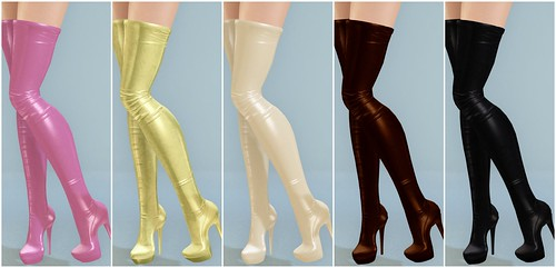 SLink - Tall Leather Thigh Boots