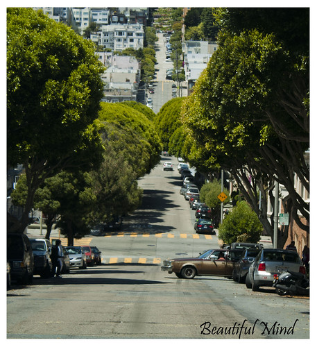 Steep hilly road @ San Francisco